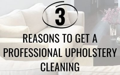 3 Reasons to Get a Professional Upholstery Cleaning