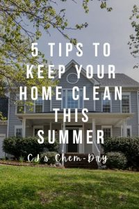 5 Tips to Keep Your Home Clean this Summer